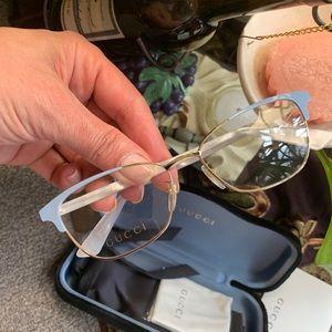 Authentic GUCCI 53 acetate/Metal optical glasses
